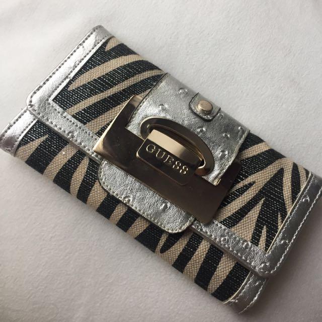 Authentic Guess Zebra Wallet