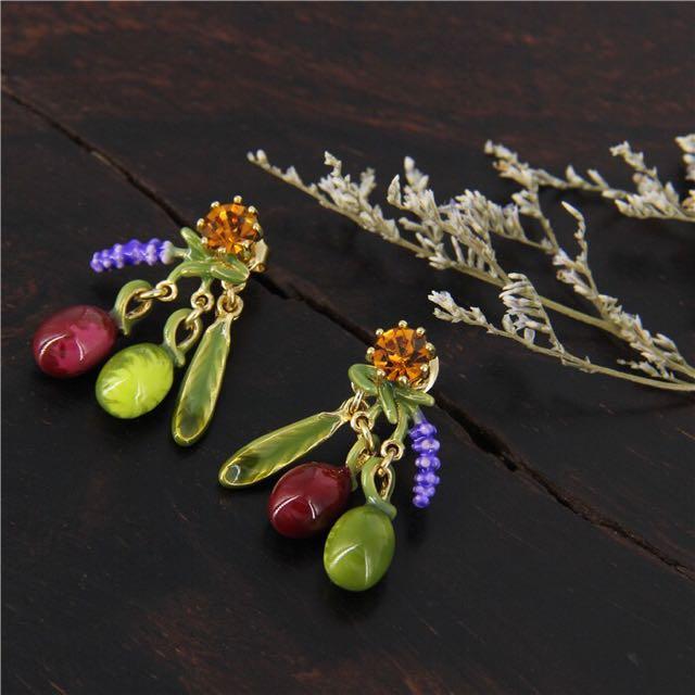 Authentic Les Nereides Handmade Earrings