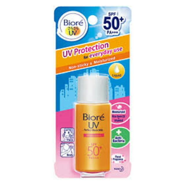 Biore UV Protect Perfector Sunscreen 50 spf