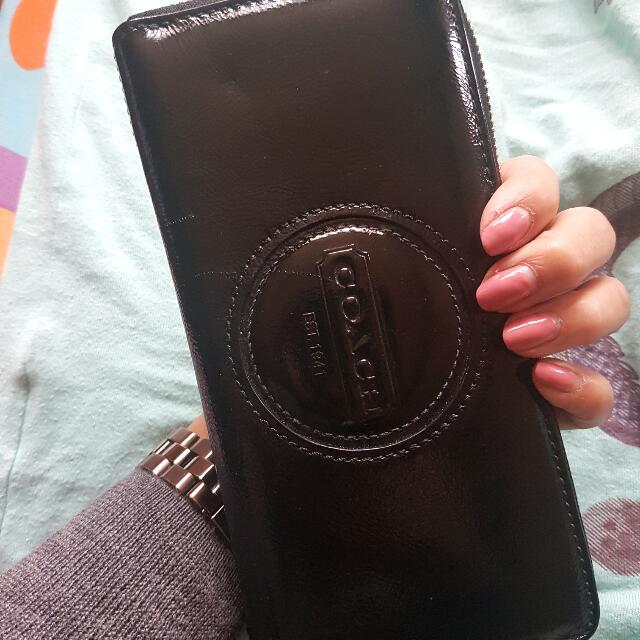 Coach Leather Continental Zip Wallet
