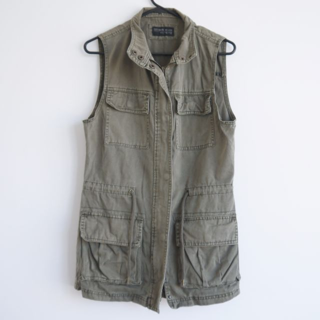 Cotton On Army Green Vest