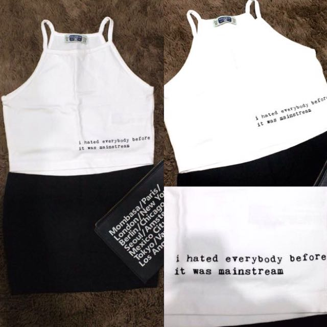 Pull&Bear Crop Tank Top
