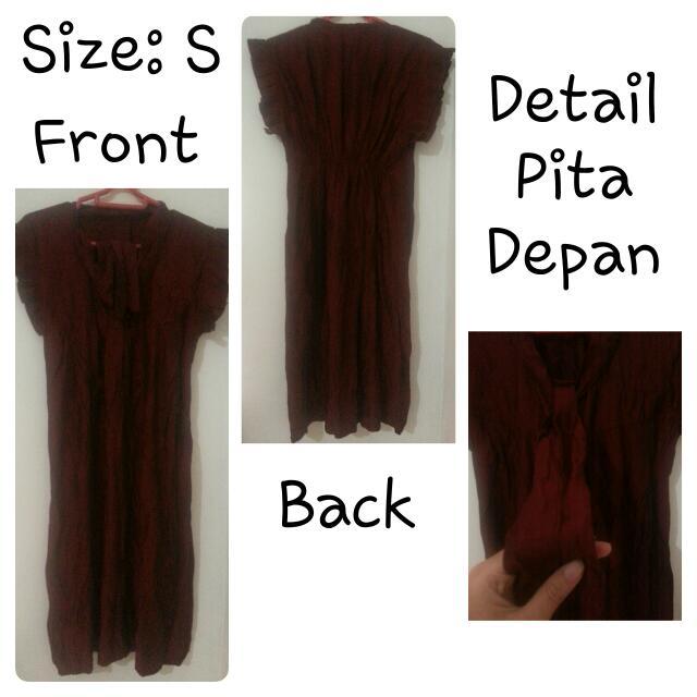 Dark Maroon Dress