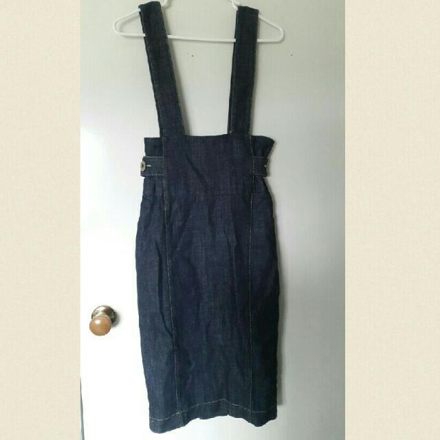 Denim Dress Overalls Size 10