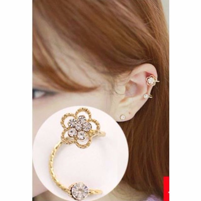 [Earrings] Flower Clip on Earring (non piercing)