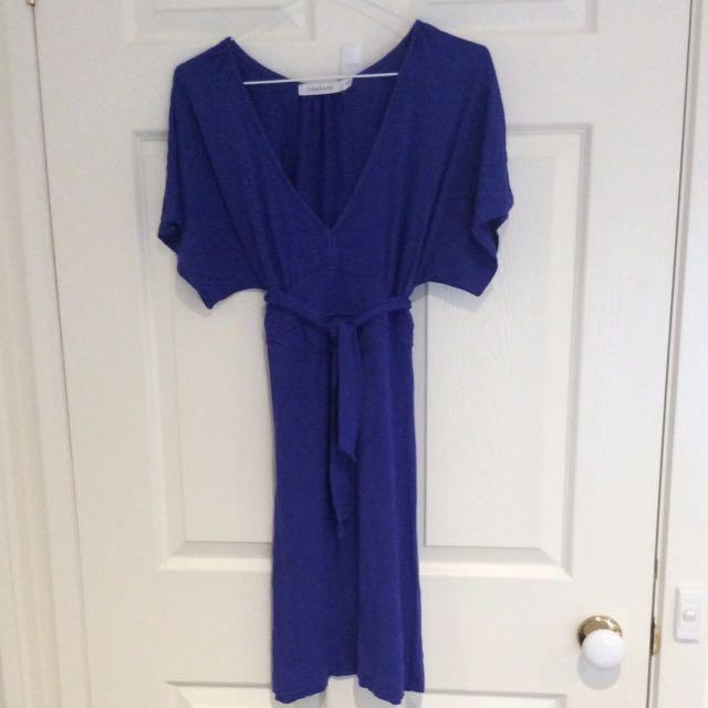 Electric Blue Wrap Dress