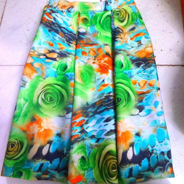 Floral Skirt (Green)