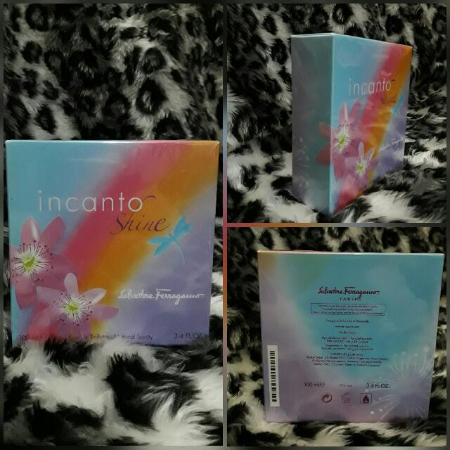 FREE SF Authentic US PERFUME INCANTO SHINE By Ferragamo(