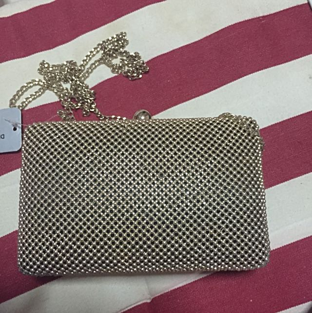 Gold Party Bag Clutch From Forever New