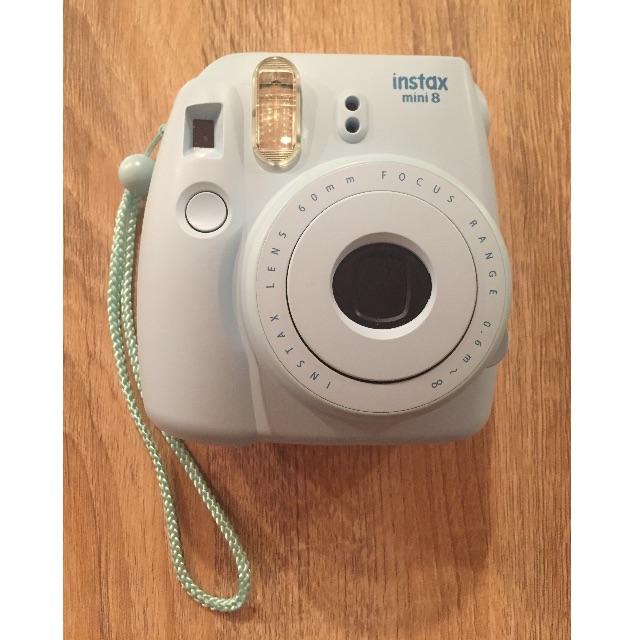 Instax Mini 8 camera (blue) + films