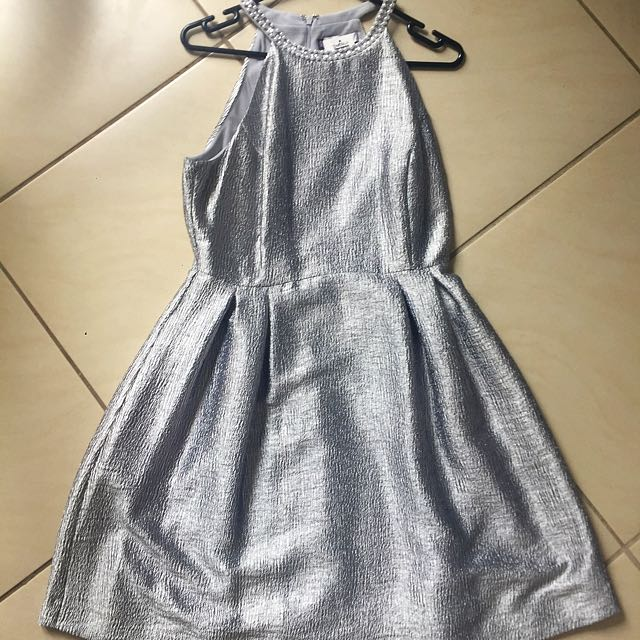 Jennifer Lopez Silver Cocktail Dress
