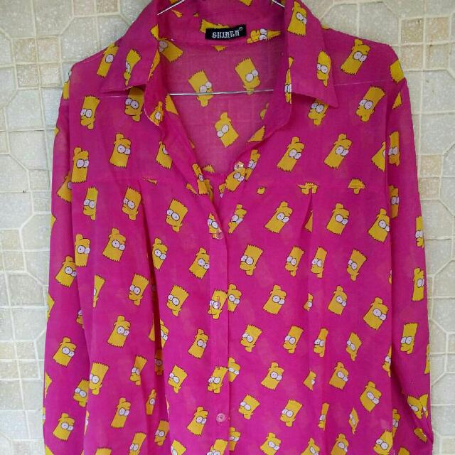 Kemeja Pink The Simpson