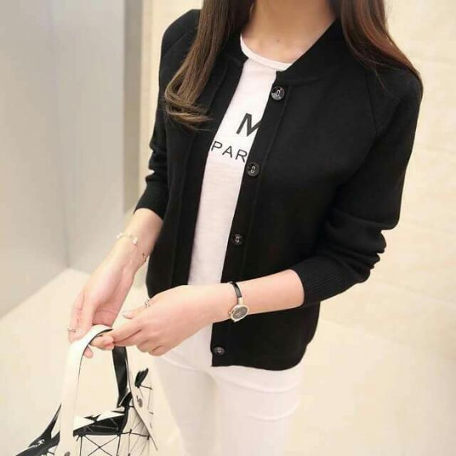 knitted short blazer