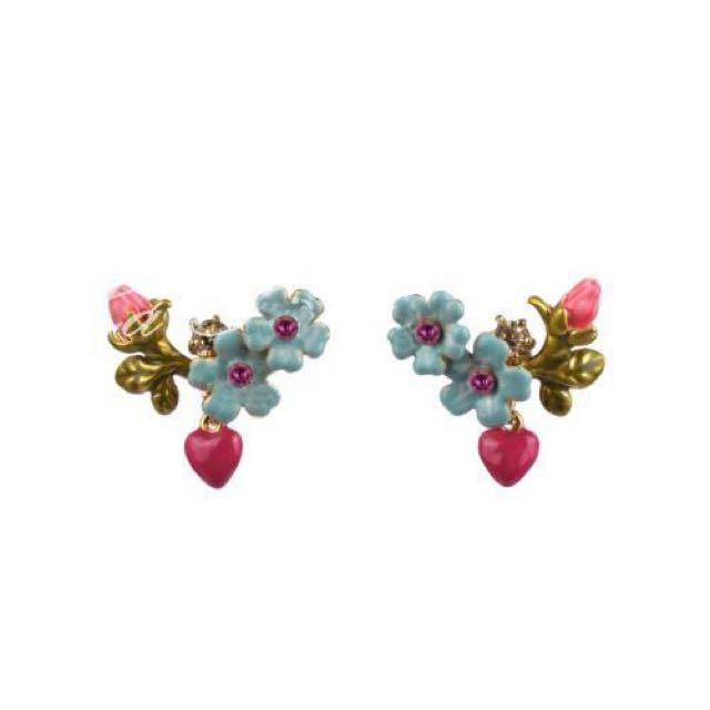 Les Nereides Handmade Enamel Earrings