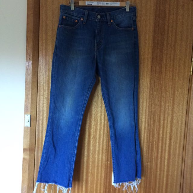 Levi's High Waisted Fit And Flare Cropped Jean