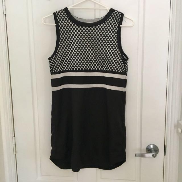 Luvalot Black And White Shift Dress