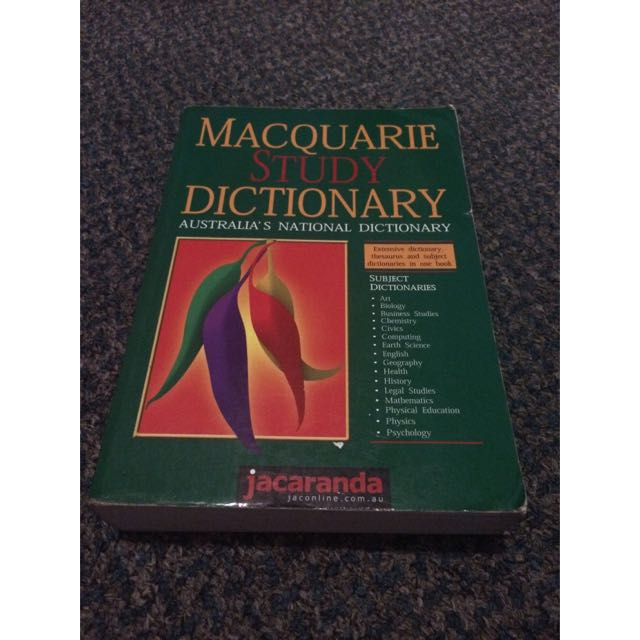 Macquarie Study Dictionary
