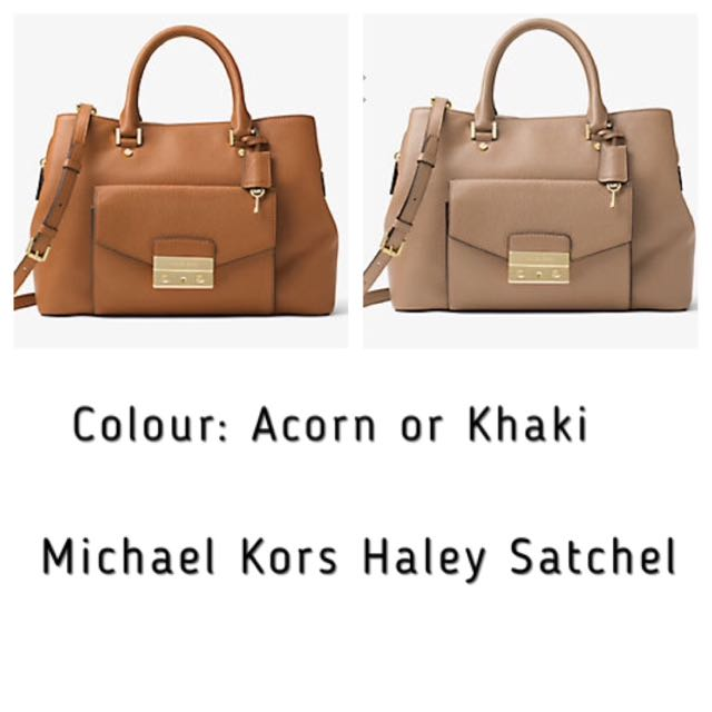 a35875a24388 Michael Kors Haley Large Leather Satchel