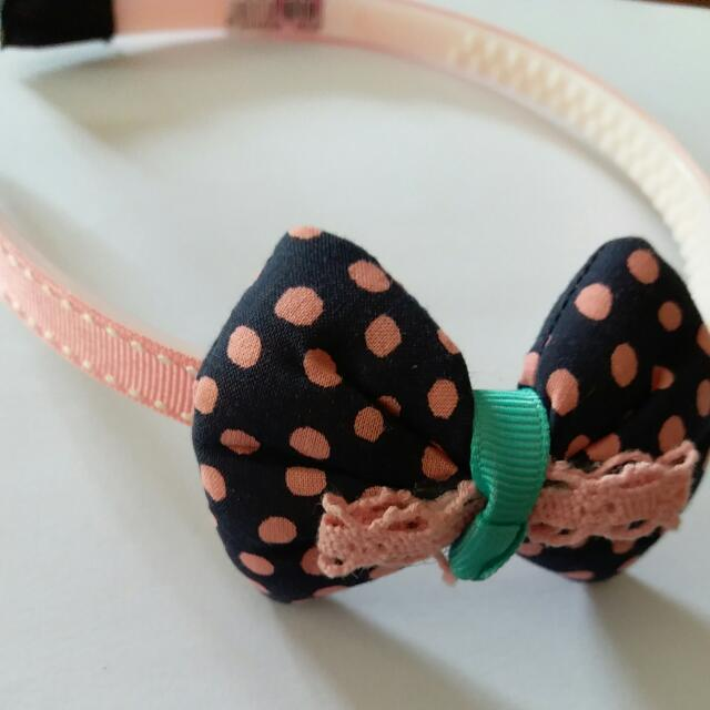 Pink and Blue Bow Headband