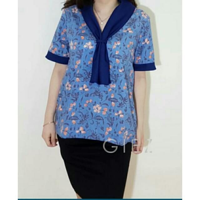 Preloved Baju Batik Biru