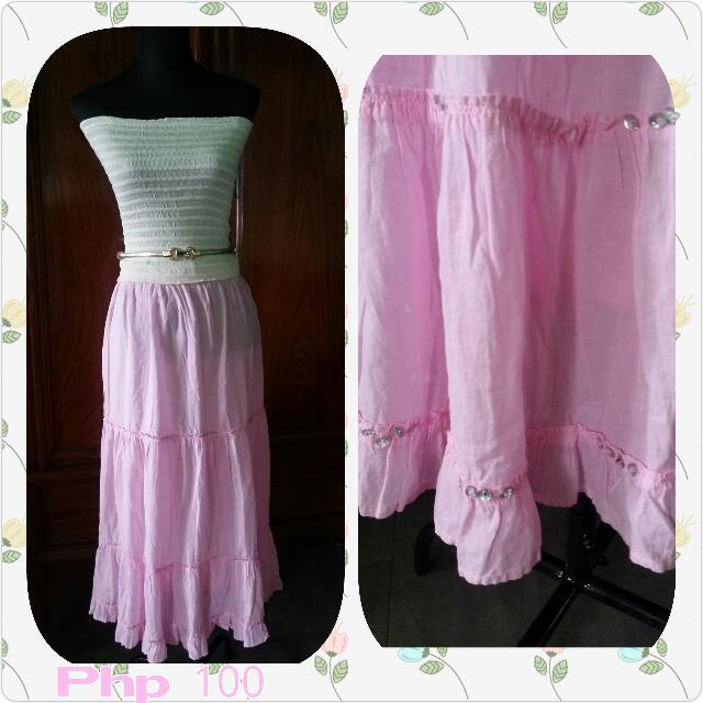 Preloved Long SKIRT ( Pink)