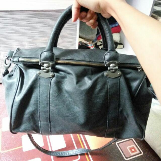 Pull and Bear Black Bag