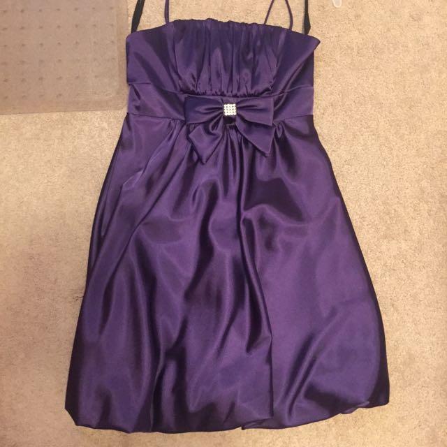 Purple Bow Dress
