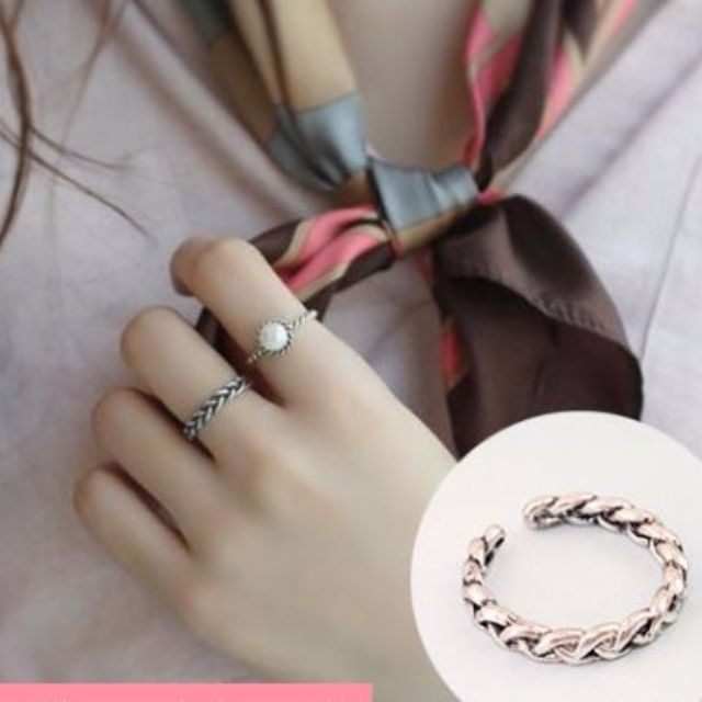 [Rings] Silver Braided Ring