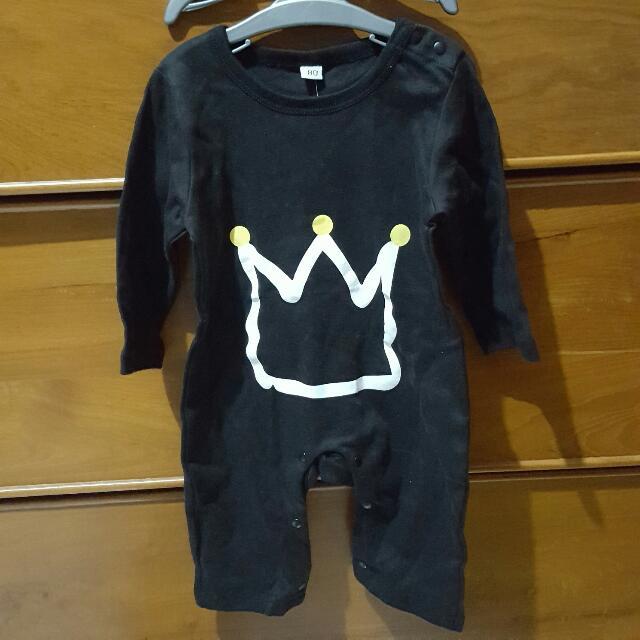 Romper Crown Black