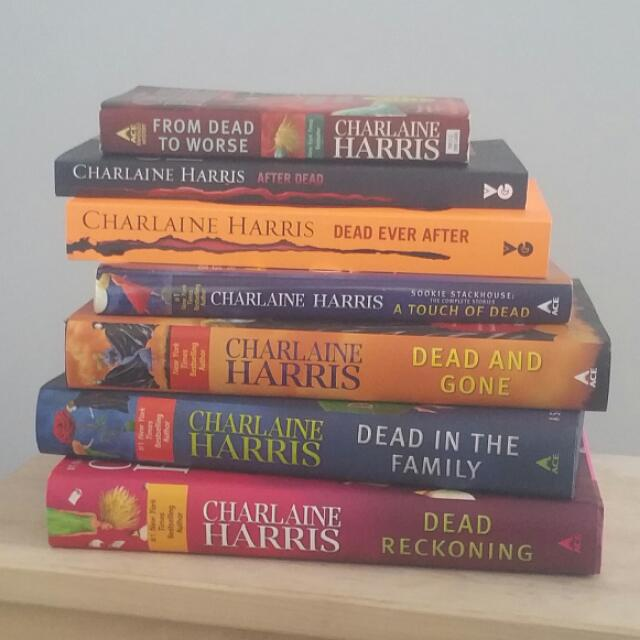 Selection of Sookie Stackhouse books by Charlaine Harris