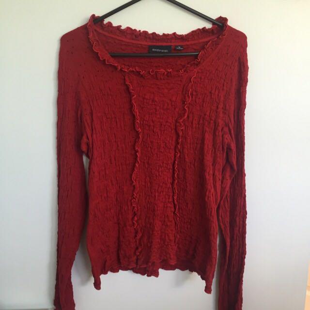 Size Medium Red Top