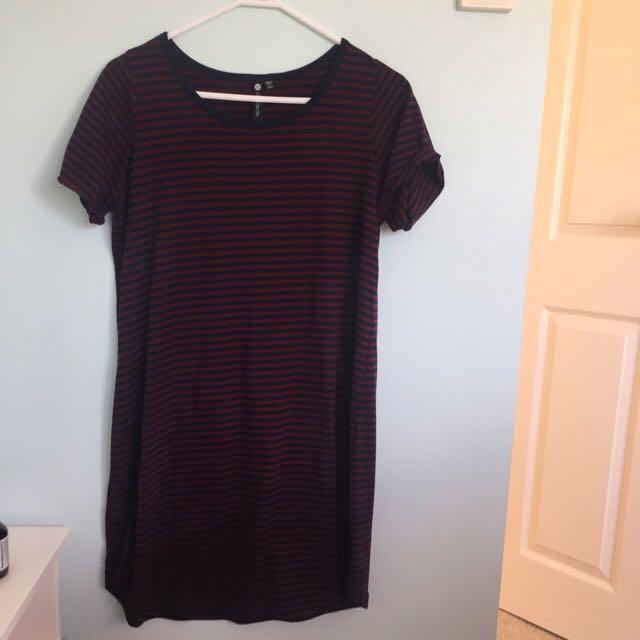 Striped T-Shirt Dress Cotton On