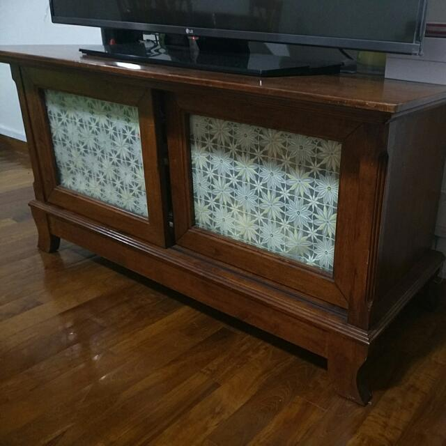 TV Console Solid Wood