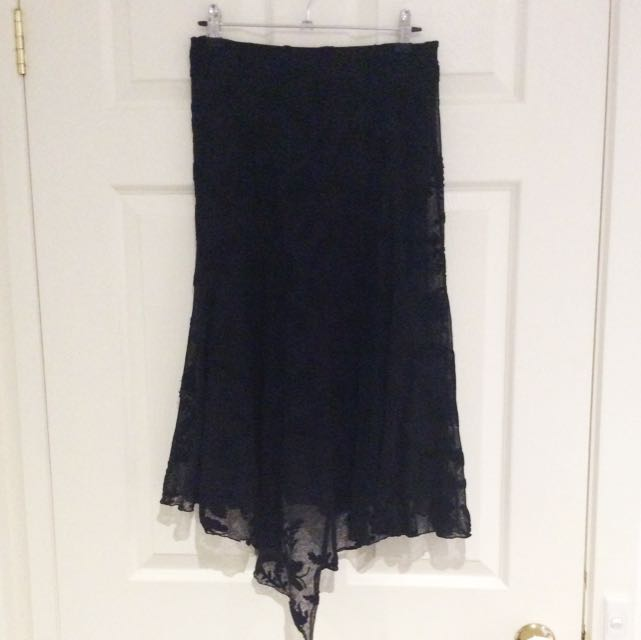 Very Very Black Lace Skirt