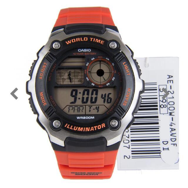 Casio Illuminator Mens Watch No: AE-2100W-4AVDF AE-2100W-4A