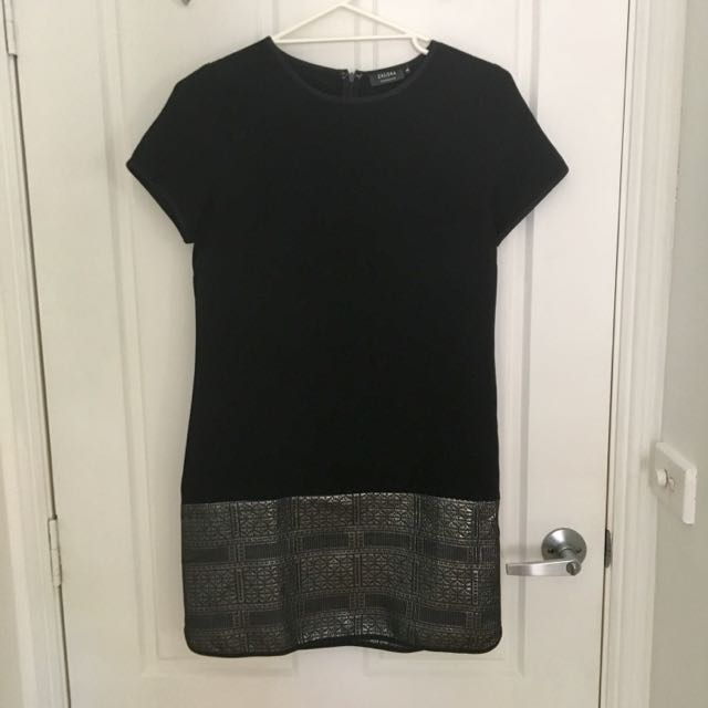 ZALORA Collection Black Shift Dress With Embellishment