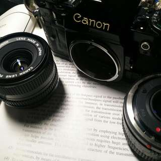 Canon A1+50mm F1.8+28mm F2.8