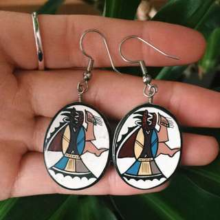 Beautiful Hand Painted Earrings