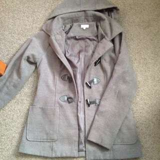 Shanton Grey Hooded Coat