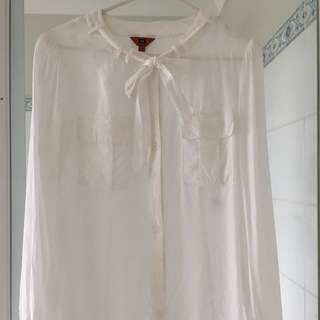 Cue Pussy Bow Blouse Size 6