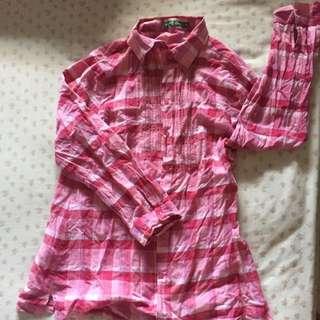 point one kemeja pink
