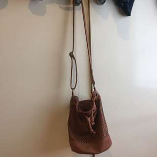 Sportsgirl Brown Bucket Bag