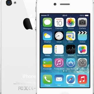 WHITE IPHONE 4 locked to FIDO 16GB
