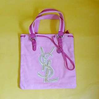 YSL 手提粉色時尚包