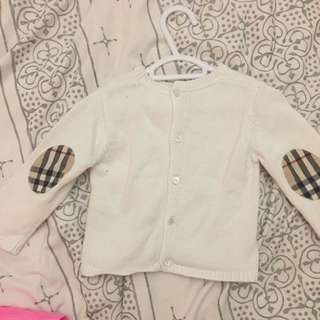 Burberry Sweater 9months Unisex White
