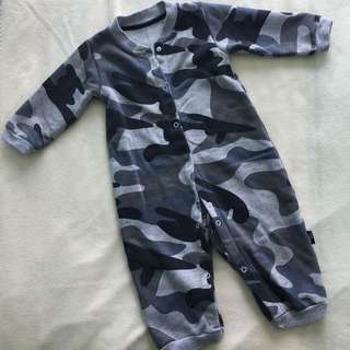 Army Grey Jumpsuit For Baby