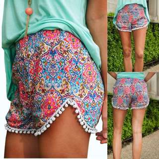 High Waisted PomPom shorts