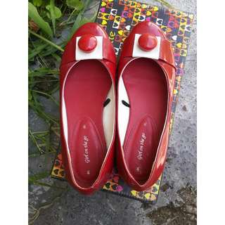 Collete Red Flatshoes