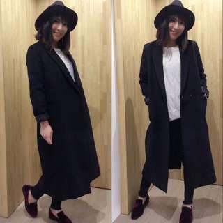 Pita歐美街拍韓風羊絨羊毛超長顯瘦修身兩種內裡大衣自留款預購品