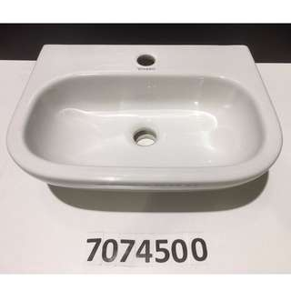 7074500 Duravit wall mount washbasin w/o overflow